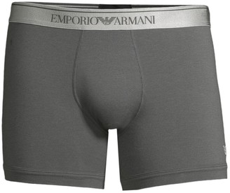 Emporio Armani Shiny Logo Band Boxer Briefs