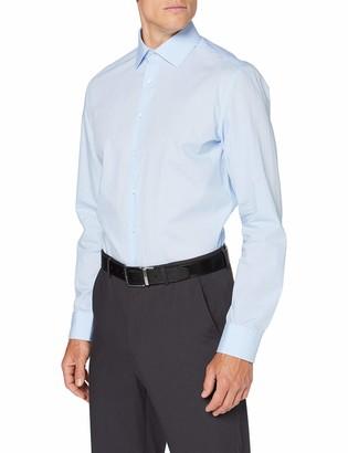 Seidensticker Men's Slim Langarm Print Soft Dress Shirt