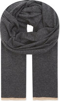 Brunello Cucinelli Contrast Tipping Cashmere Scarf