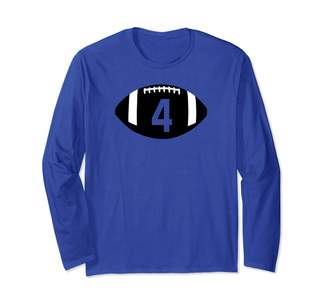 Official Family Jersey Number Football Shirts Football Jersey Number 4 Jersey T-Shirt Art-Player Number Long Sleeve T-Shirt