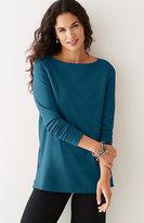 J. Jill Ponte Knit Side-Buttoned Top