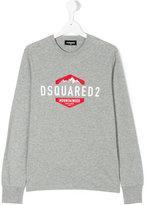 DSQUARED2 logo print sweatshirt - kids - Cotton - 14 yrs