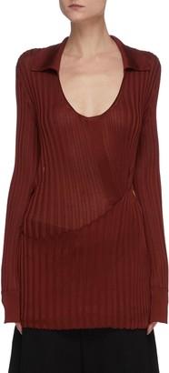 Bottega Veneta Scoop neck rib knit top