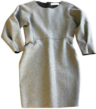 Ash Grey Wool Dress for Women