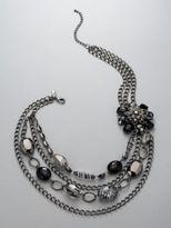 Bead Flower Statement Necklace