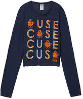 PINK Syracuse University Long Sleeve Campus Cutout Tee