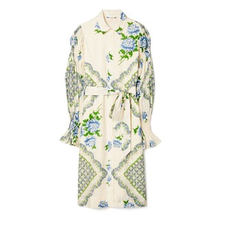 Tory Burch Printed Cotton Shirt Dress