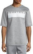 Helmut Lang Logo Short-Sleeve Oversized T-Shirt, Heather Gray