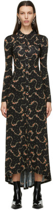 Paco Rabanne Black Floral Long Dress