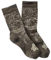 Smartwool Floral Scroll Crew Socks