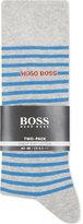 Hugo Boss Striped Cotton Socks Pack Of Two