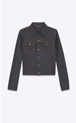 Saint Laurent Denim Jacket In Raw Indigo