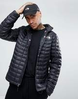 The North Face International Limited Capsule Thermoball Puffer Jacket In Black With Flag Lining