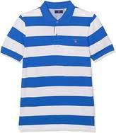 Gant Boy's O. Barstripe Pique Ss Rugger Polo Shirt