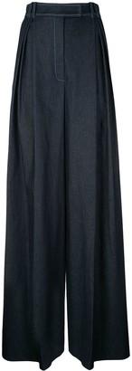 Carolina Herrera High-Waisted Wide-Leg Trousers
