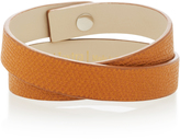 Valextra Double Wrap Leather Bracelet
