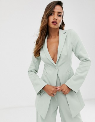 Asos Edition EDITION cutaway fitted blazer-Green