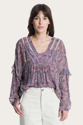 The Frye Company Violet Dusk Printed Blouse