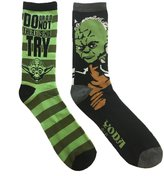 Star Wars Yoda Jedi Master 2 Pack Casual Crew Socks