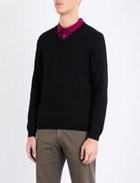 HUGO BOSS Slim-fit cotton jumper