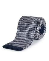 Jaeger Silk Two Colour Knitted Tie