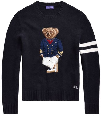 Ralph Lauren Purple Label Riviera Bear Cashmere-Blend Sweater