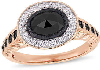 Black Diamond FINE JEWELRY Womens 1 1/4 CT. T.W. Genuine 10K Rose Gold Cocktail Ring