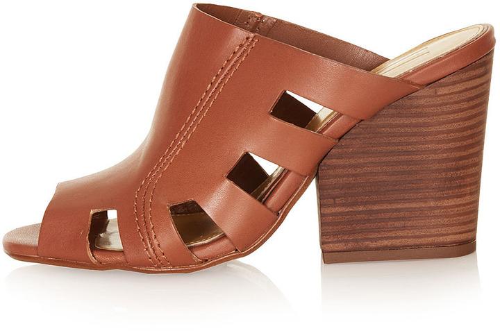Unique **heeled mule shoes