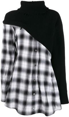 Unravel Project contrast tartan shirt dress