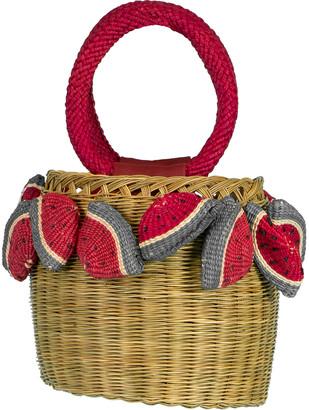 Serpui Marie Lauren Watermelon Top Handle Bag