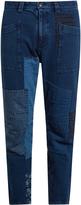 Blue Blue Japan Straight-leg patchwork cotton trousers
