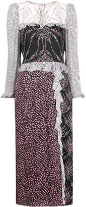 Liberty London Vita mixed-prints midi dress