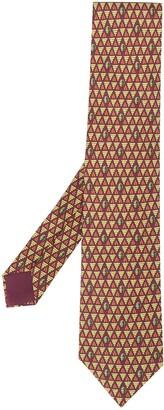 Hermes Pre-Owned 2000's autumn print tie