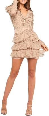 Bardot Frill Fit--Flare Dress