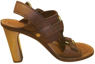 Celine Camel Leather Sandals