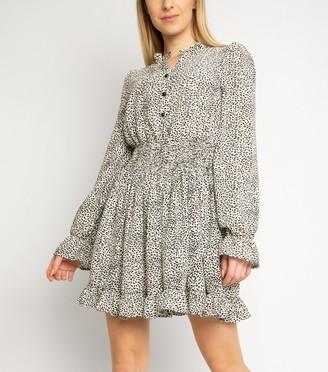 New Look Gini London Animal Print Puff Sleeve Dress