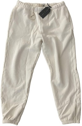 LES TIEN Ecru Cotton Trousers for Women