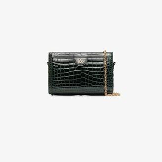 Gucci green Ophidia crocodile leather shoulder bag