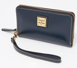 Dooney & Bourke Selleria Leather Zip-Around Wristlet