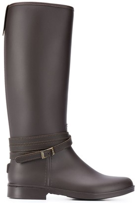 Peserico Crossover Strap Buckle Boots