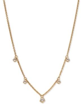 "AVA NADRI Shaky Crystal Pendant Necklace, 16"" + 1"" extender"