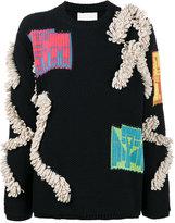 Peter Pilotto bouclé embellished sweater