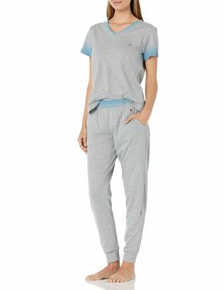 Tommy Hilfiger Women's Short Sleeve Soft Top & Pajama Bottom Pj Set