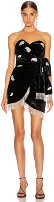 Dundas Strapless Mini Dress in Black   FWRD