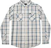 RVCA Men's treets Long Sleeve Woven Shirt