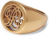 Ralph Lauren Gold-Plated Signet Ring