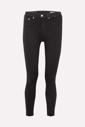 Rag & Bone Cropped High-rise Skinny Jeans - Black