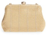 La Regale Crystal Mesh Frame Clutch - Metallic
