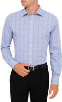 Van Heusen Blue and Purple Check Classic Fit Shirt