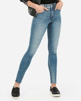 Express High Waisted Denim Perfect Lift Ankle Leggings